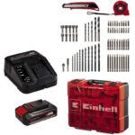 Einhell TE-CD 18/40 Li +69 akkus fúró-csavarozó készlet, 18V, 40Nm, 69 részes (2.5Ah akkuval és töltővel) - Power X-Change