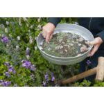 Nature Fém kerti kerek szita, 7,4 x D37 cm, 12 mm, szürke