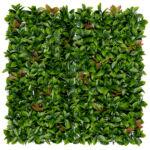 Nortene Vertical Red Lauro zöldfal, növényfal műanyag, természetes hatás - vörös babérlevelekkel