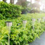 Leszúrható napelemes kerti lámpa, 10 db