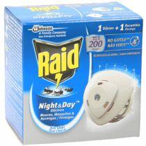 Raid Night& Day 200 órás szúnyog- és légyirtó - 1 db készülék + 1 db korong