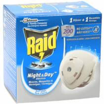 Raid Night& Day 200 órás szúnyog- és légyirtó korong 1 + 1 db