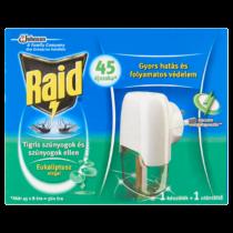 Raid elektromos párologtató készülék eukaliptusz illattal, 45 éjszakás (szúnyogok ellen)