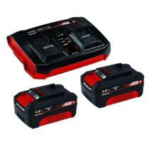 Einhell 2 x 3,0 Ah & Twincharger Kit gyors töltő, Power X-Change