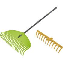 FZNR 1102 Cserélhető fejes kerti gereblye/lombseprű