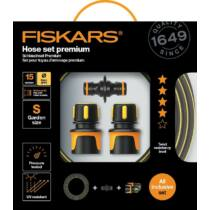 Fiskars prémium locsolótömlő-szett, 9 mm (3/8