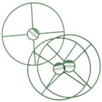 Nature Virágtartó gyűrűk, 3 db, D30 cm, zöld