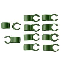 Nature Műanyag klipsz karók összekapcsolásához, 10 db, D16 mm, zöld
