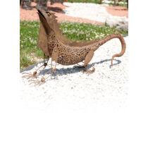 Nortene Iguana figura fémből, antik hatású