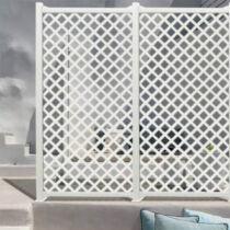 Nortene CLASSIC dekoratív kültéri panel fehér 1x2m