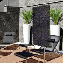 Nortene Vertical Lavanda zöldfal, növényfal műanyag, természetes hatás -  levendulával