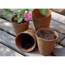 Nortene Growing Pots ültető edény, 24 db x ø 6 cm, Barna
