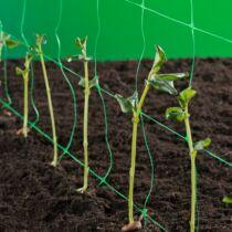 Nortene Trellinet növénytartó háló,uborkaháló,rácsméret 100 x 100 mm, 1,2x10, Fehér