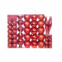 112 részes karácsonyfadísz, piros
