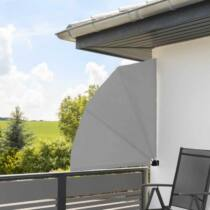 Legyező árnyékoló erkélyre, 140 cm, szürke színben