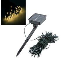 100 LED-es napelemes kerti fényfüzér, meleg fehér, 10 m