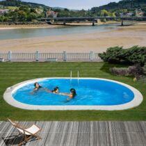 PONTAQUA  7 x 3,2 x 1,5 m ovális földbe épített medence