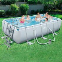 Bestway CAPRI szögletes fémvázas medence szett 404 x 201 x 100 cm