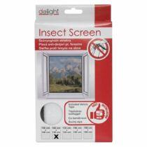 Szúnyogháló ablakra 100x130 cm fehér