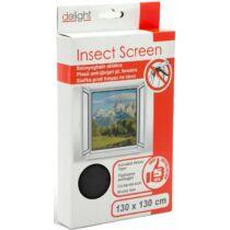 Szúnyogháló ablakra 130 x 130 cm fekete