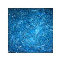 Színezett dekor faapríték, 4-12mm, kék, 7.5L, mulcs