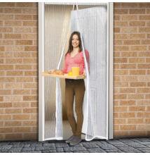 Szúnyogháló ajtóra 100x210 cm, 2-részes mágneses záródással, fehér