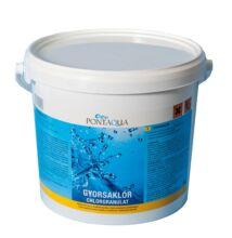Gyorsan oldódó klór medence vegyszer Pontaqua Gyorsaklór 3kg