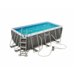 Bestway THASSOS szögletes fémvázas medence szett 412 x 201 x 122 cm