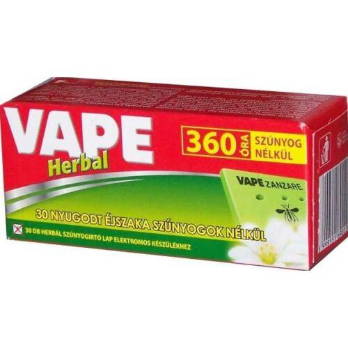 VAPE HErbál szúnyogírtó lap 30 db