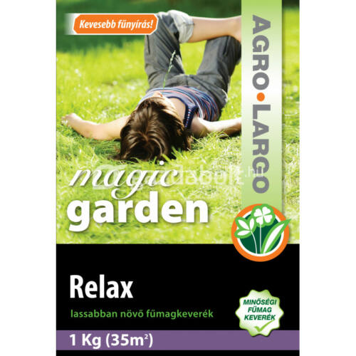 AGRO-LARGO Magic Garden - Lassan növő fűmag (Relax) - 1 kg