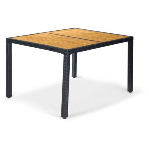 Fieldmann FDZN 6030-PR rattan kerti asztal fa betétekkel