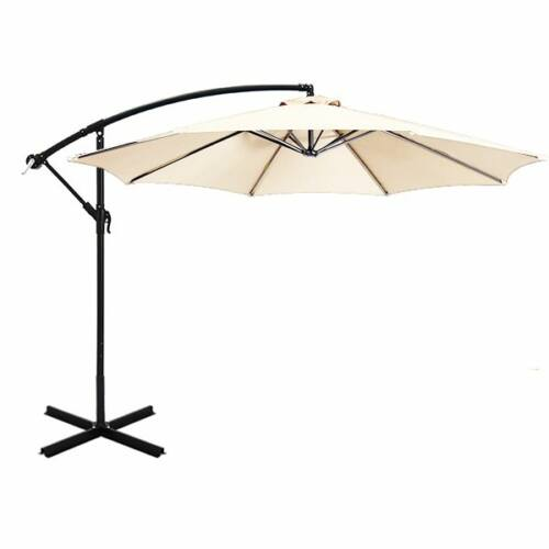 Függő napernyő 2,7m krém színű