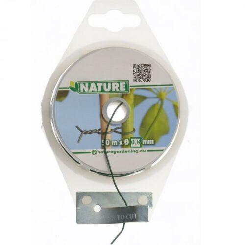 Nature fémhuzalos kötöző 50m, 0,8mm, zöld, kerek