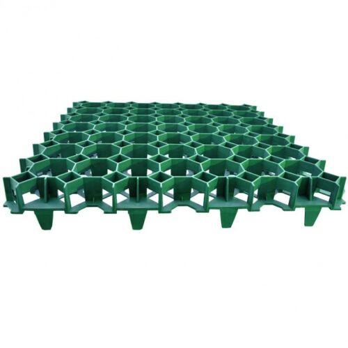 Műanyag, zöld gyeprács, 49,2 cm x 49,2 cm