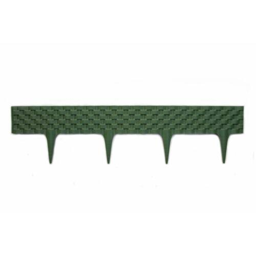 Leszúrható rattan hatású ágyásszegély Zöld