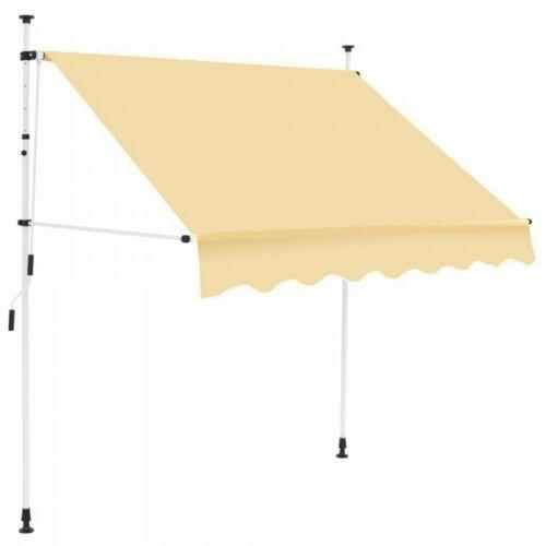 Feltekerhető napellenző 200×120 cm, bézs színben