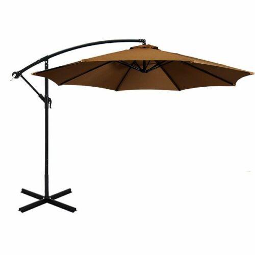 Függő napernyő 2,7 m, kheki színű