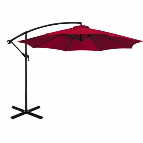 Függő napernyő 2,7 m piros színű