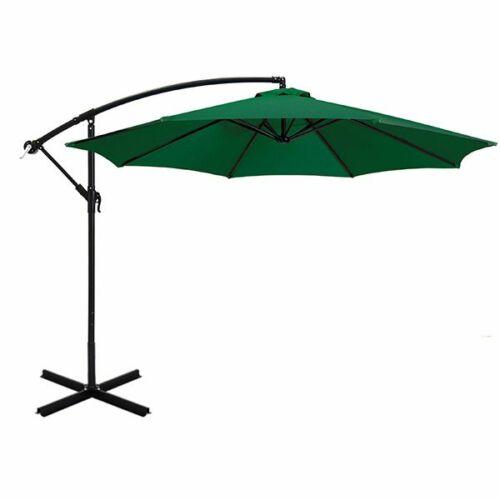 Függő napernyő 2,7 m zöld színű