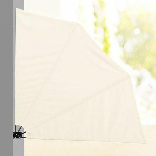 Legyező árnyékoló erkélyre, 140 cm, fehér színben