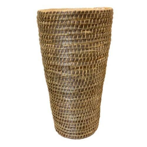 Kerek, fonott kaspó, 66 x 39 cm