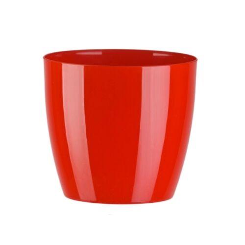 Piros, műanyag Aga kaspó, 6 x 14,5 cm