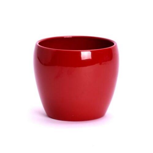 Piros kerámia Ziertopf kaspó, 15 cm