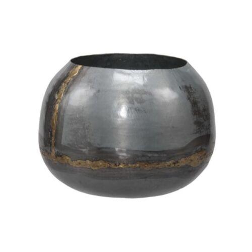 Fém gömb kaspó, 18 x 15 cm