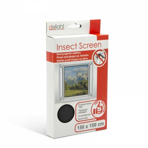 Szúnyogháló ablakra 150 x 150 cm fekete