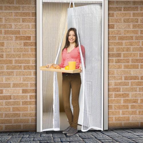 Szúnyogháló ajtóra 100x200 cm, 2-részes mágneses záródással, fehér